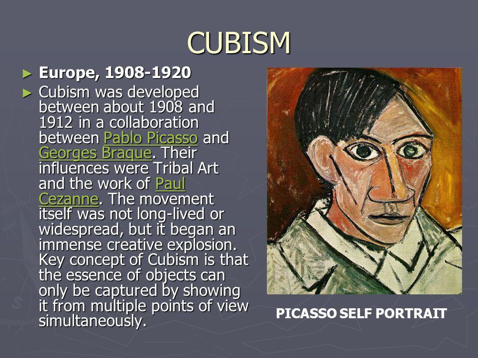 CUBISM Europe, 1908-1920.