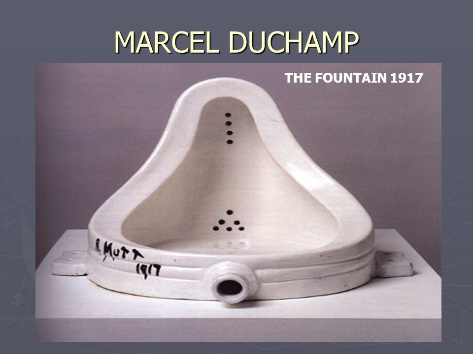 MARCEL DUCHAMP THE FOUNTAIN 1917
