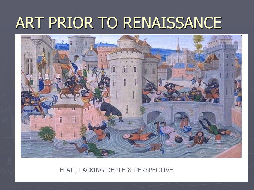 ART PRIOR TO RENAISSANCE