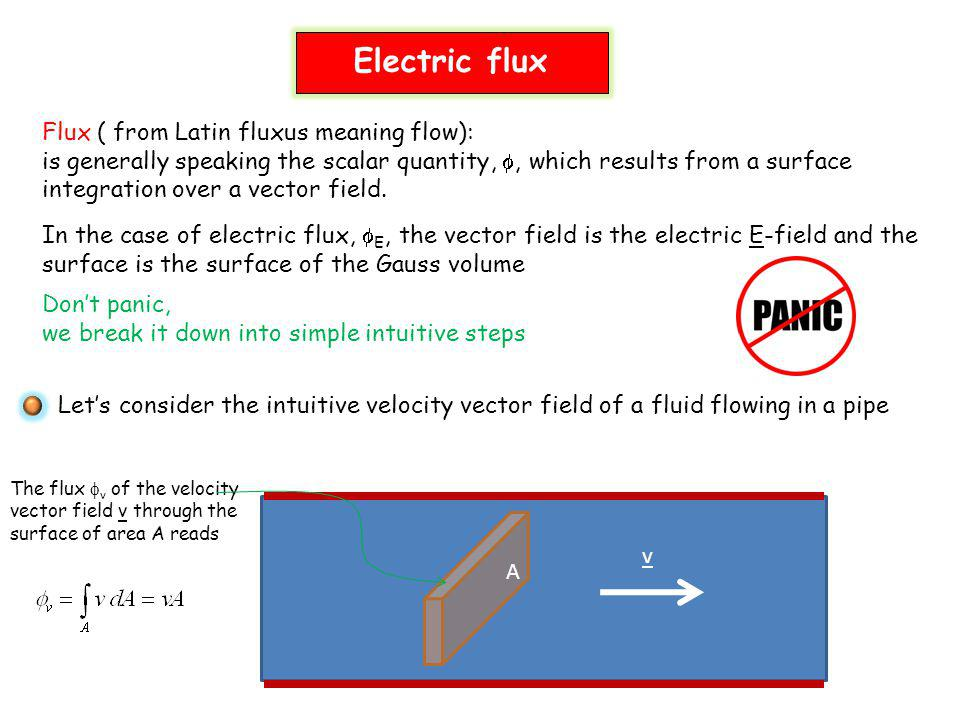 Electric flux Flux ( from Latin fluxus meaning flow):