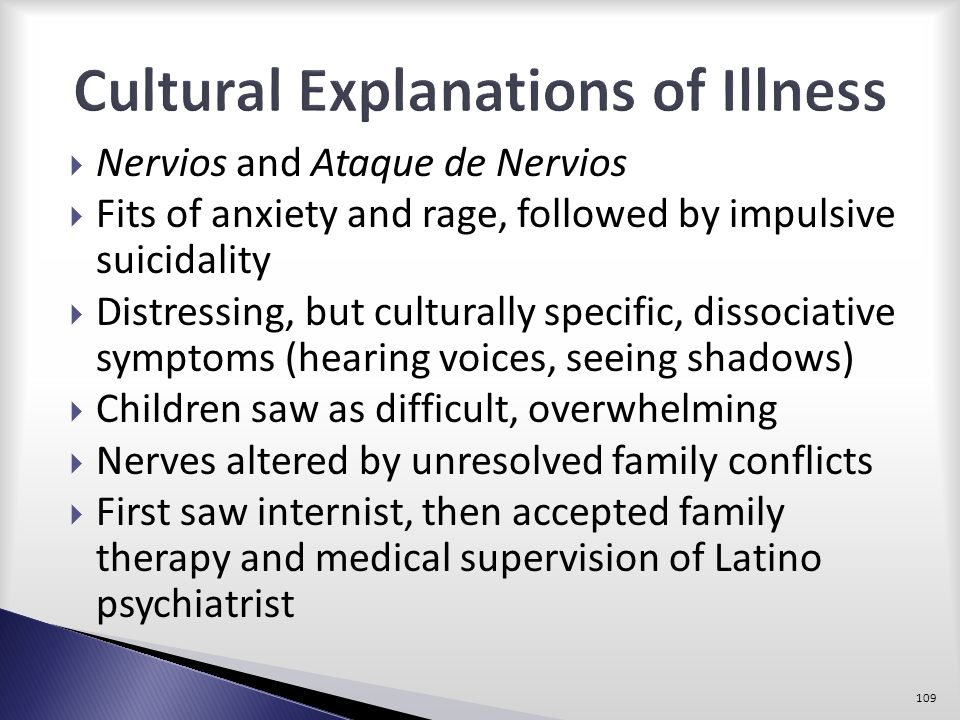 Cultural Explanations of Illness