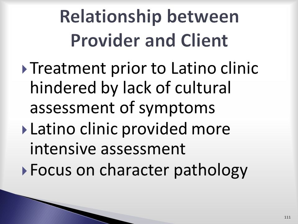 Relationship between Provider and Client