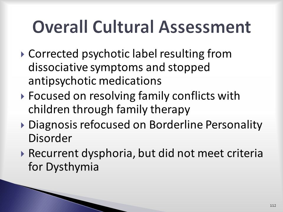 Overall Cultural Assessment