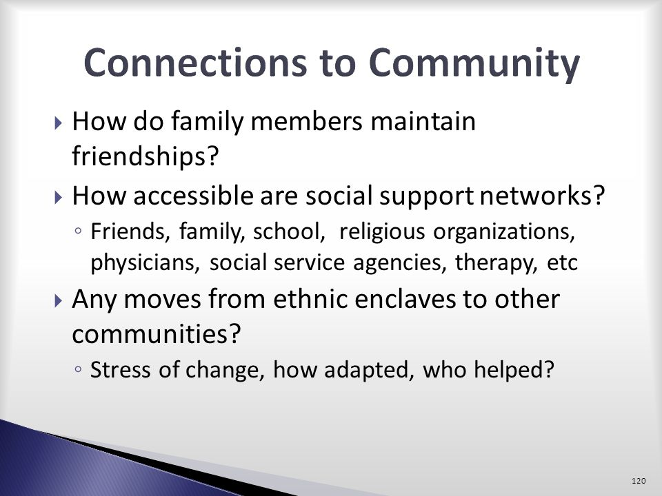 Connections to Community