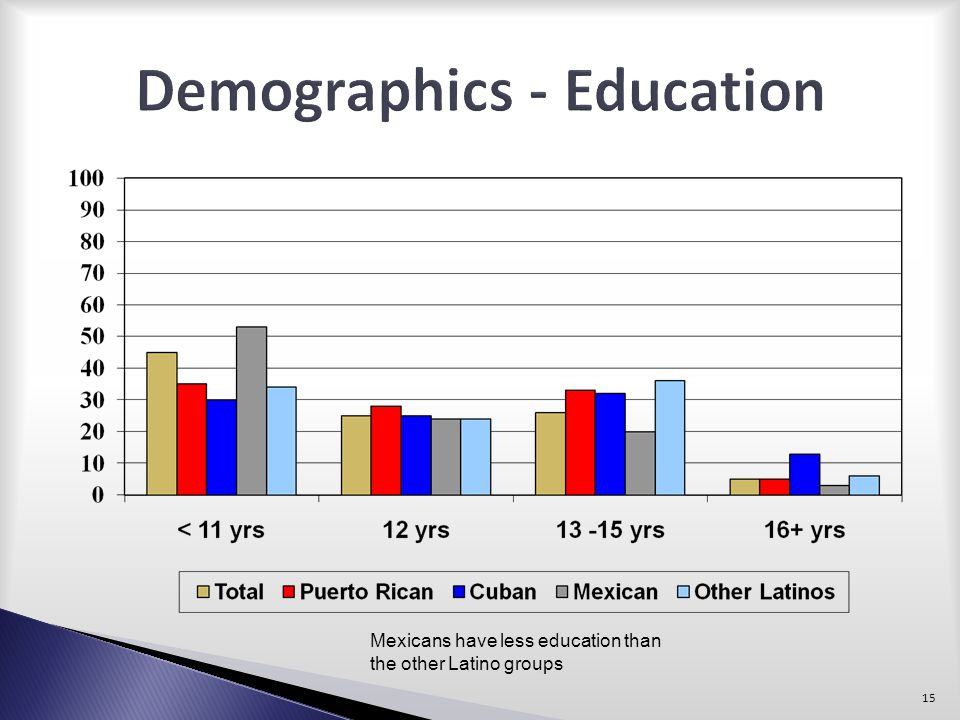 Demographics - Education
