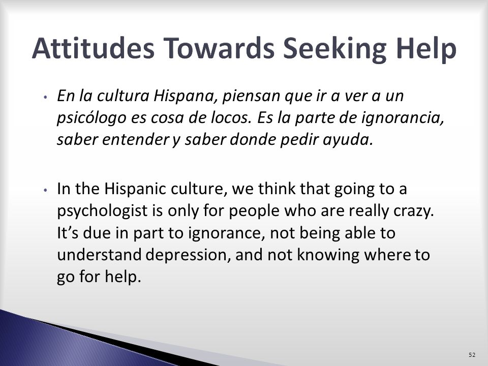 Attitudes Towards Seeking Help