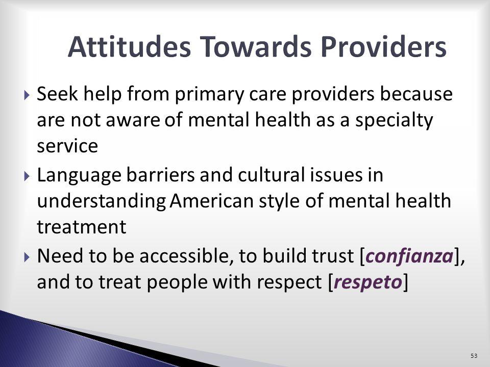 Attitudes Towards Providers