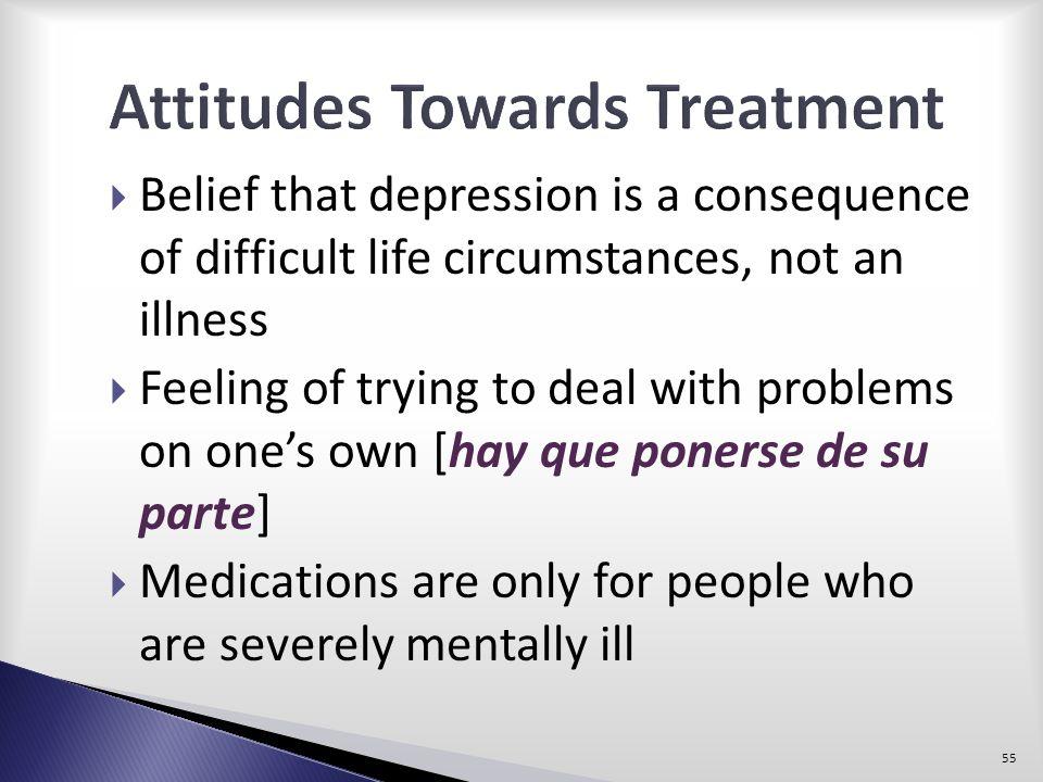 Attitudes Towards Treatment