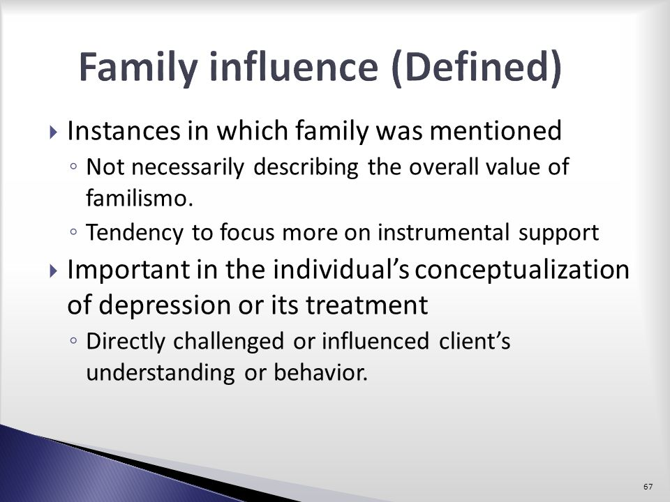 Family influence (Defined)