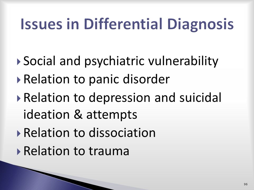 Issues in Differential Diagnosis