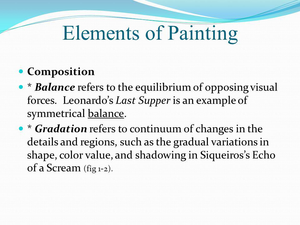 Elements of Painting Composition