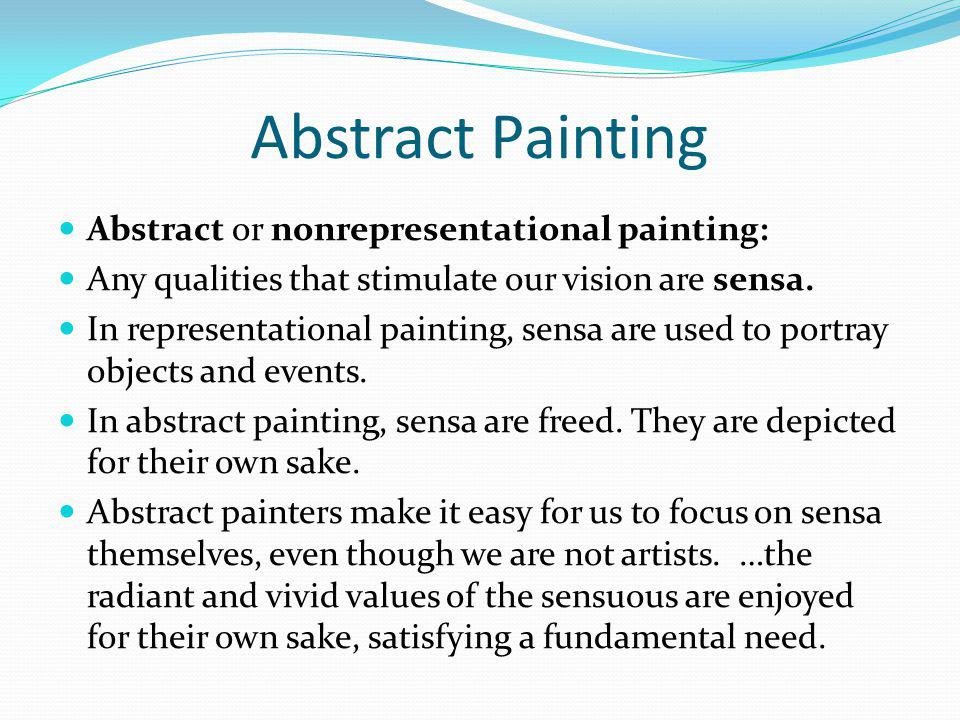 Abstract Painting Abstract or nonrepresentational painting: