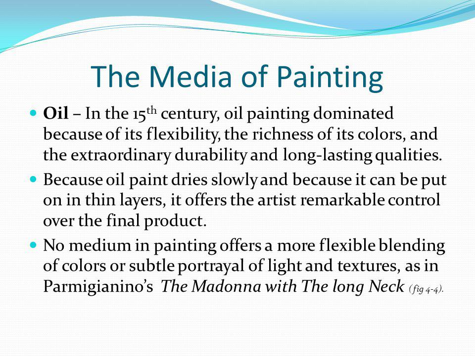 The Media of Painting