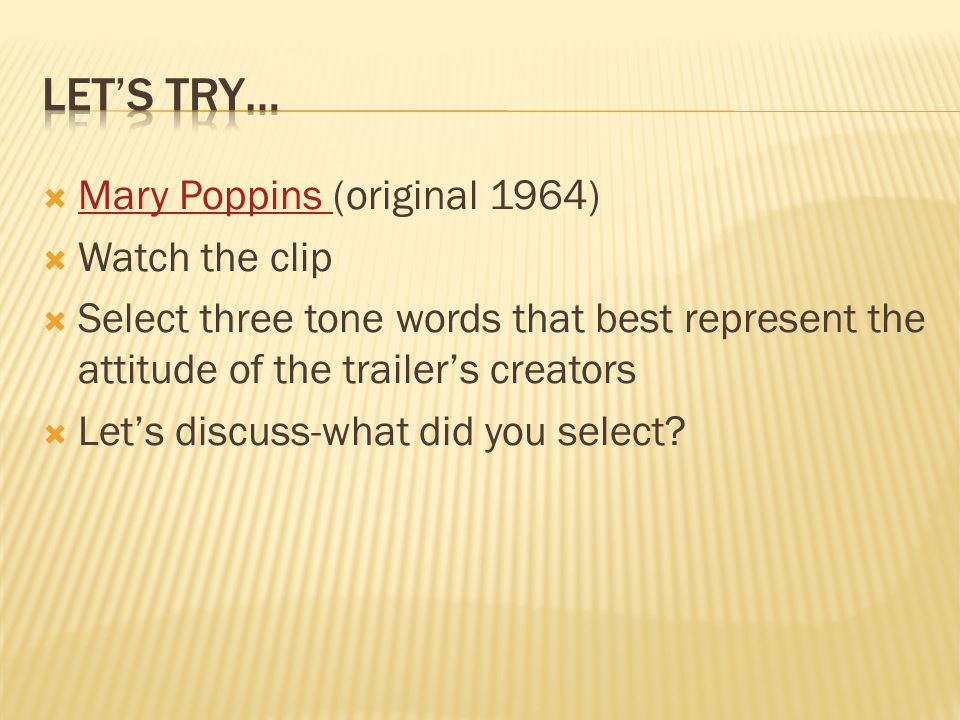 Let's Try… Mary Poppins (original 1964) Watch the clip