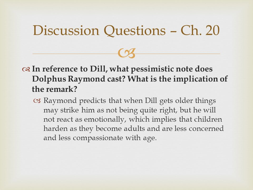 Discussion Questions – Ch. 20