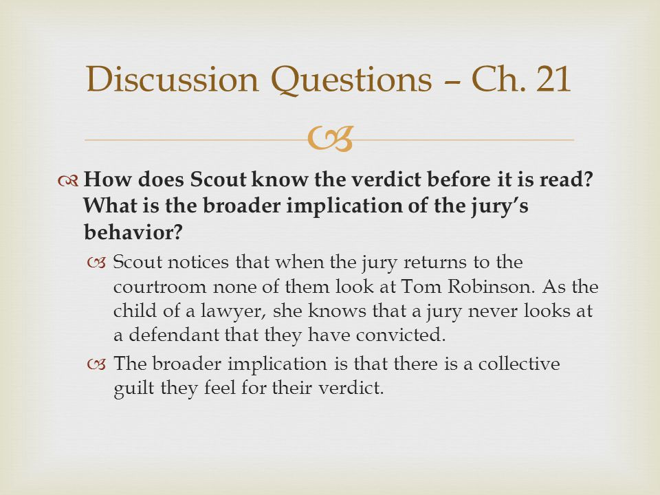 Discussion Questions – Ch. 21