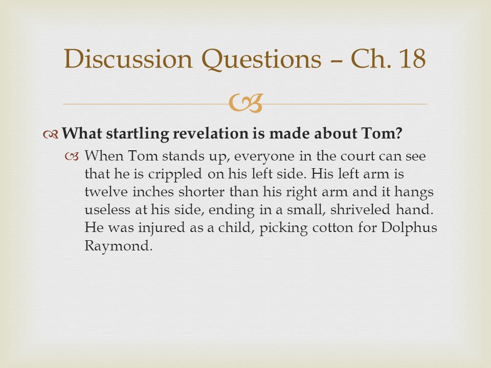 Discussion Questions – Ch. 18