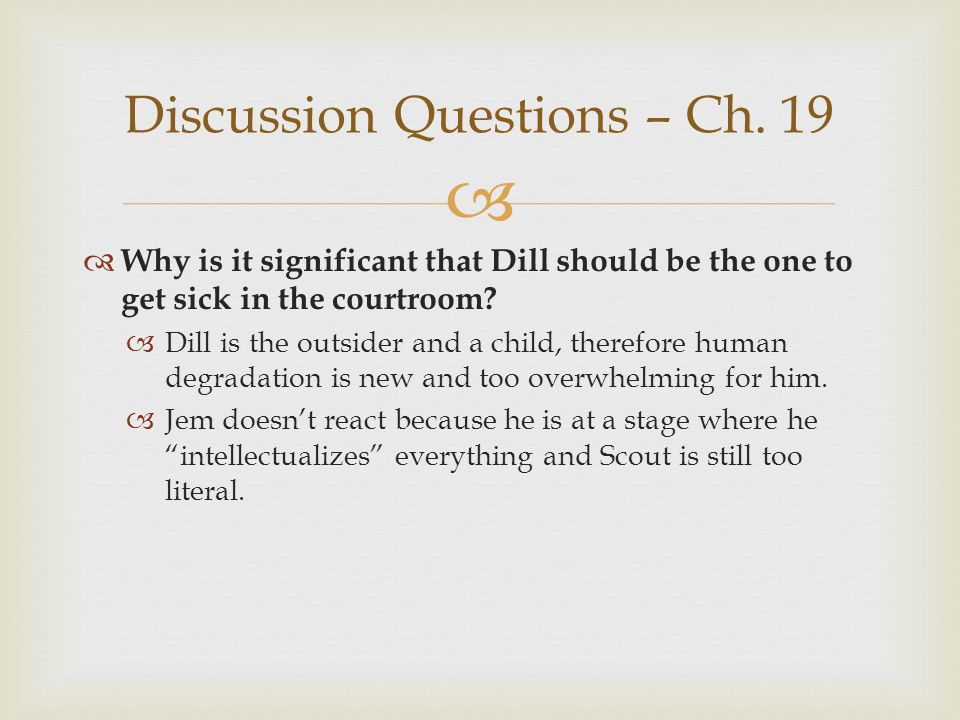 Discussion Questions – Ch. 19