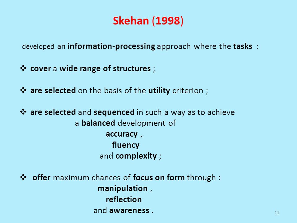 developed an information-processing approach where the tasks :