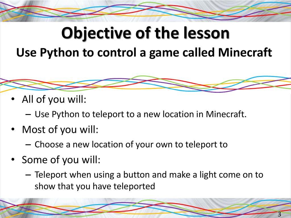 Hacking Minecraft on the Raspberry Pi using Python - ppt