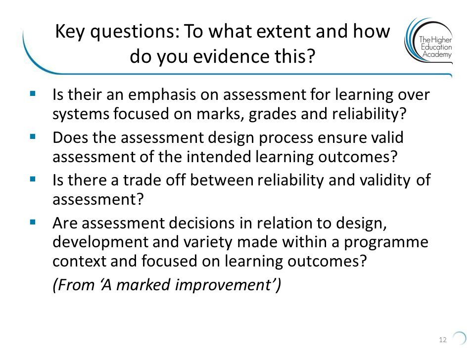 Key questions: To what extent and how do you evidence this