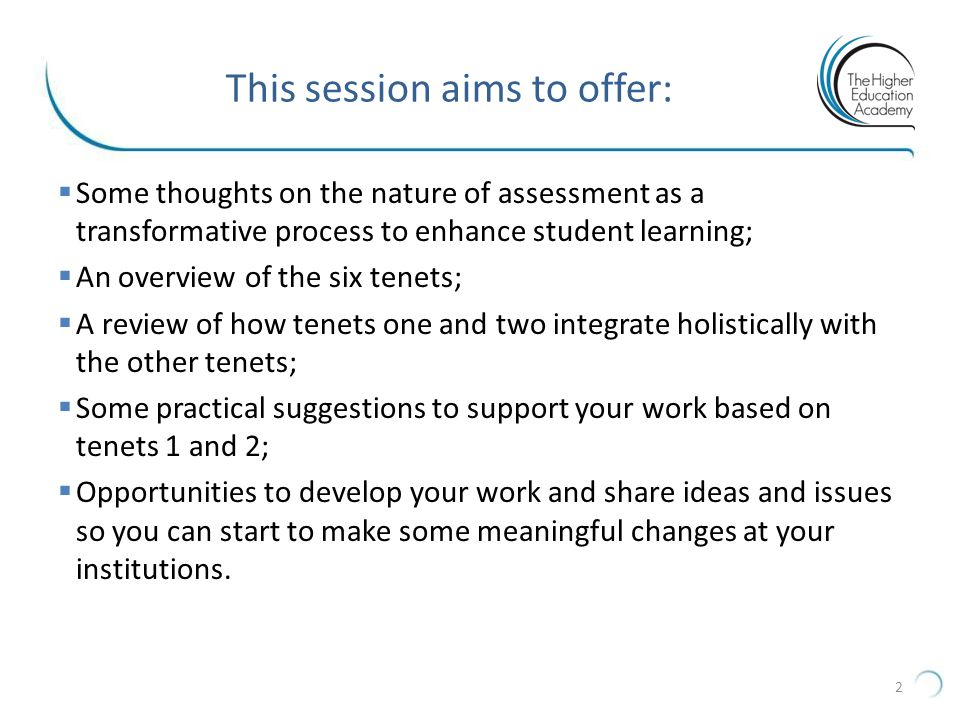 This session aims to offer: