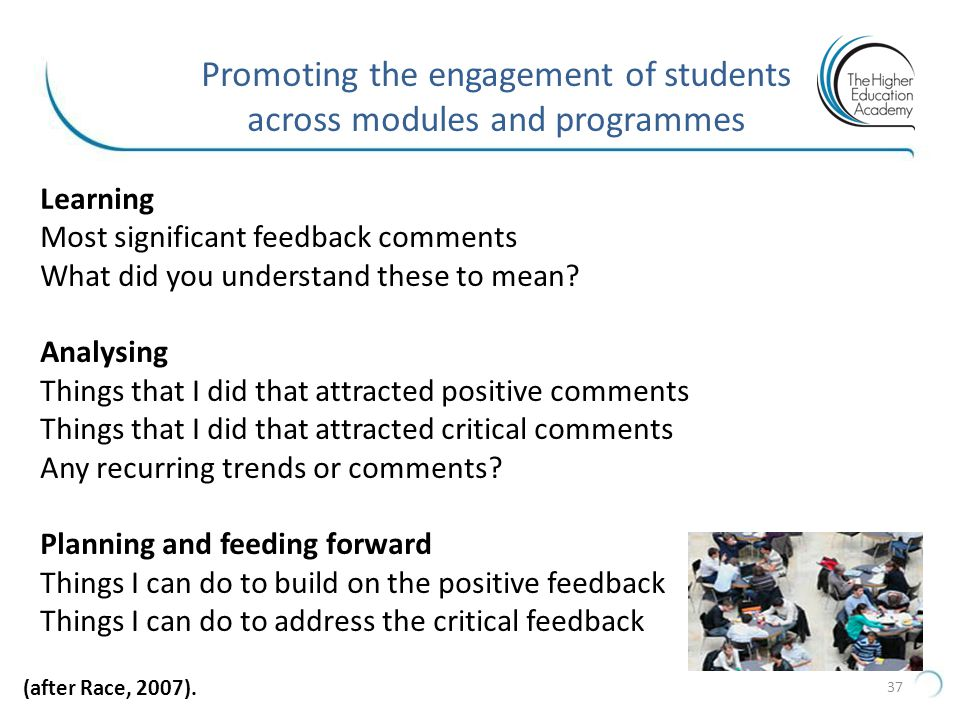 Promoting the engagement of students across modules and programmes
