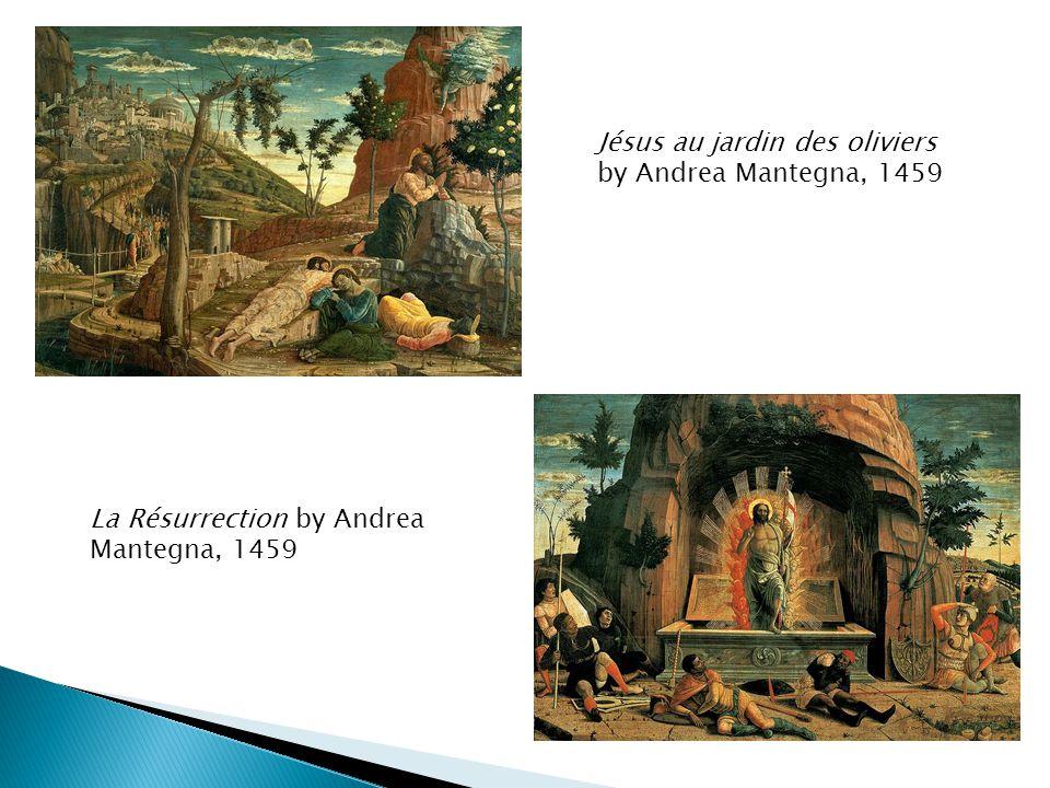 Jésus au jardin des oliviers by Andrea Mantegna, 1459