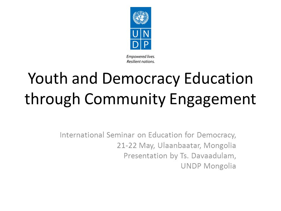 Youth and Democracy Education through Community Engagement