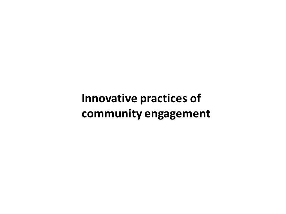 Innovative practices of
