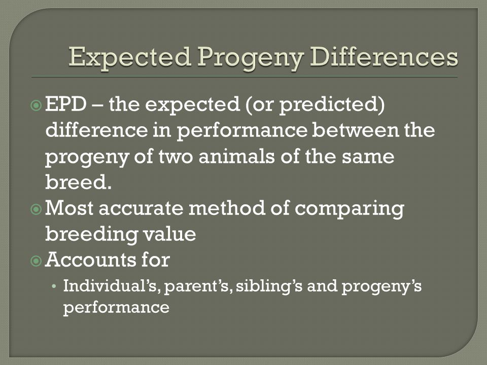 Expected Progeny Differences