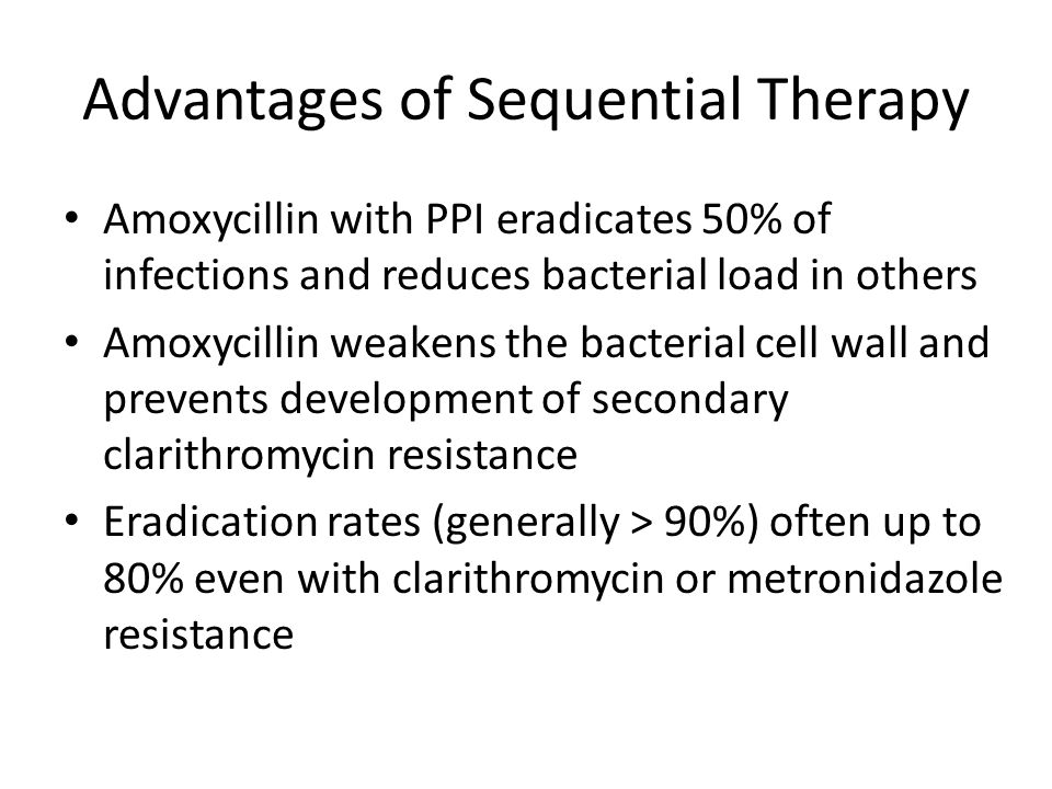 Advantages of Sequential Therapy