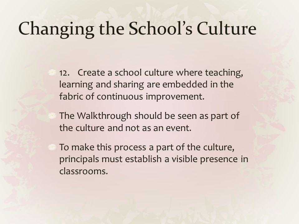 Changing the School's Culture