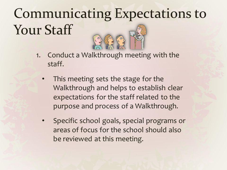 Communicating Expectations to Your Staff