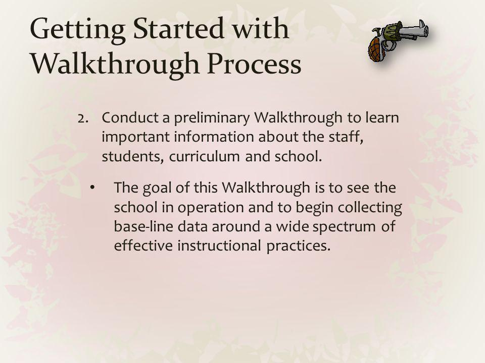 Getting Started with Walkthrough Process
