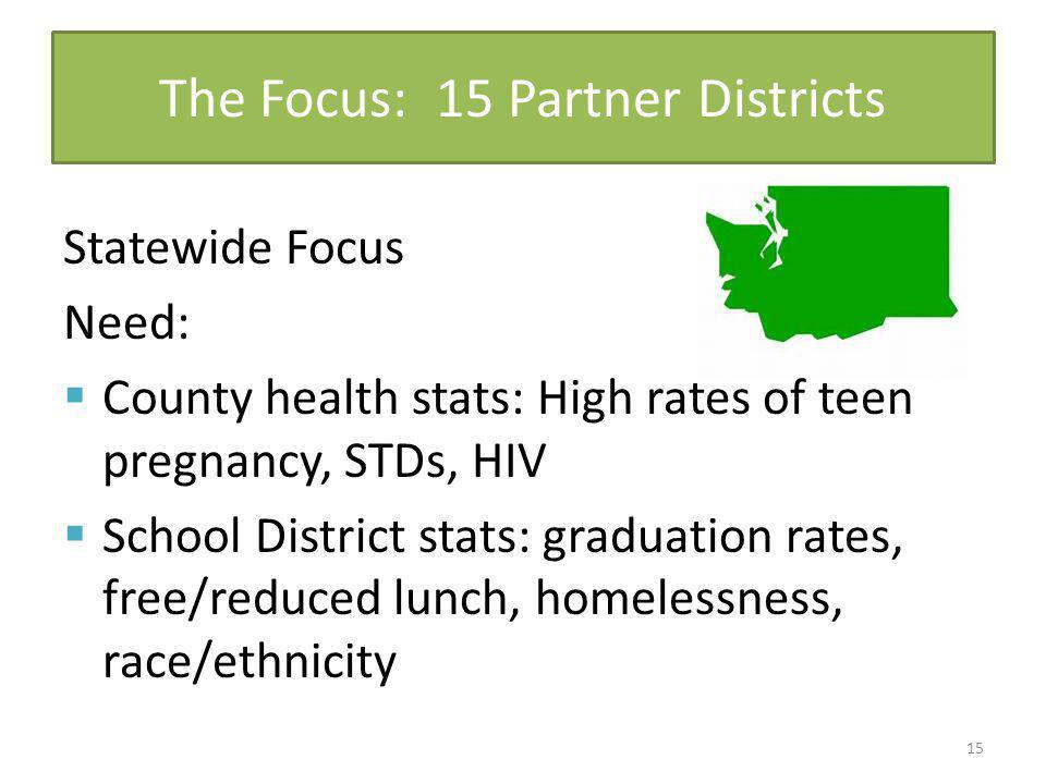 The Focus: 15 Partner Districts