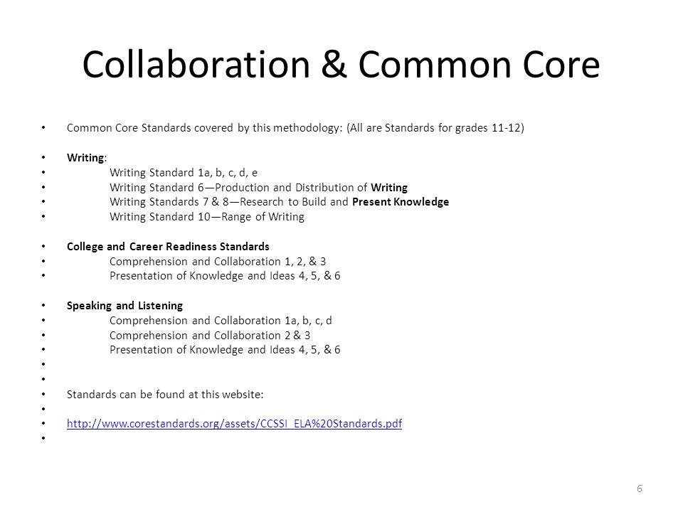 Collaboration & Common Core