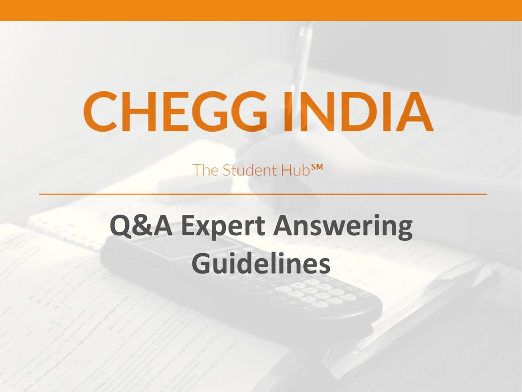 Q&A Expert Answering Guidelines