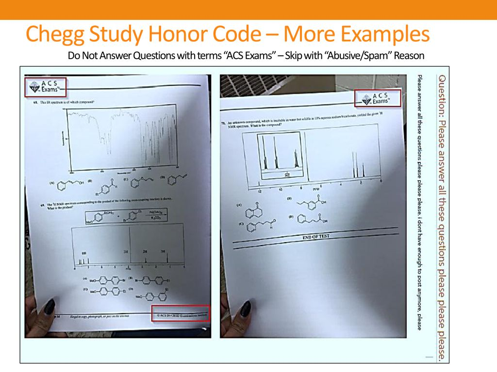 Chegg Study Honor Code – More Examples