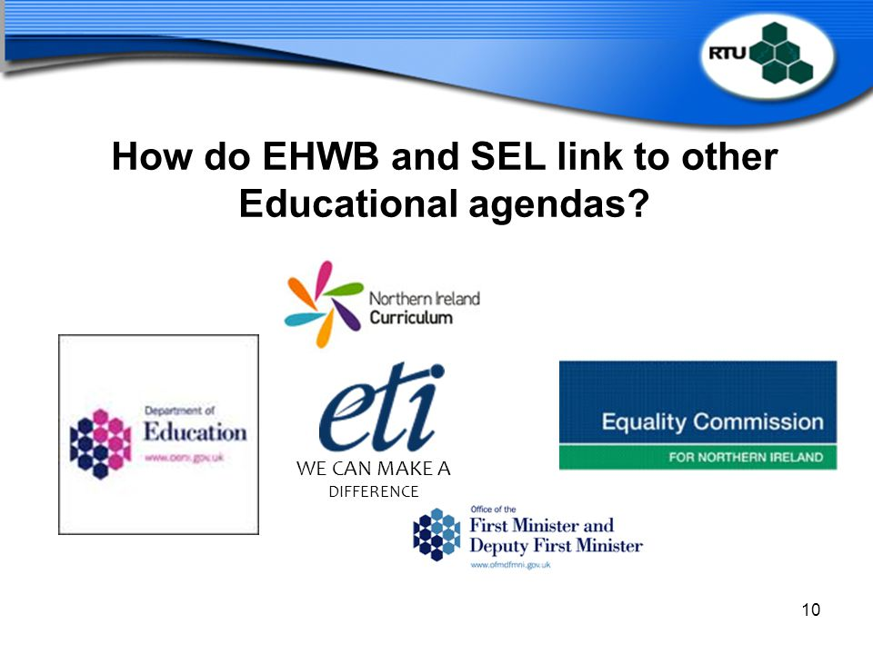How do EHWB and SEL link to other Educational agendas