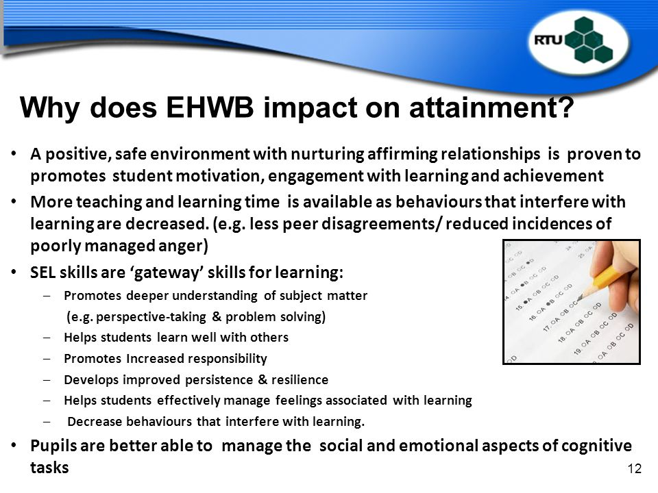 Why does EHWB impact on attainment