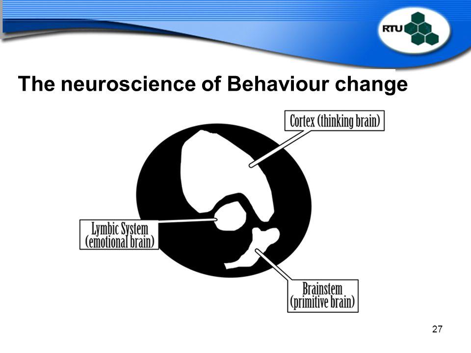 The neuroscience of Behaviour change