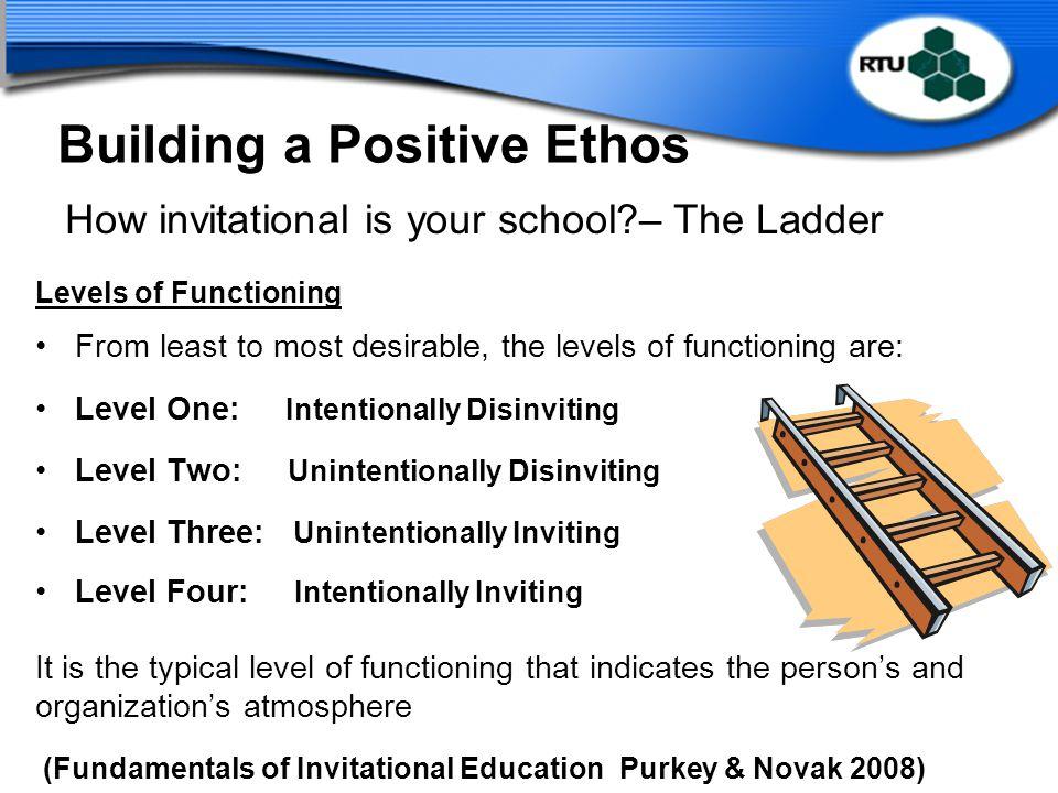 Building a Positive Ethos