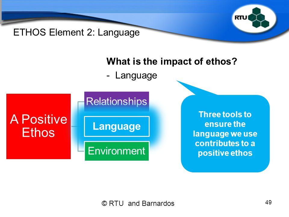ETHOS Element 2: Language