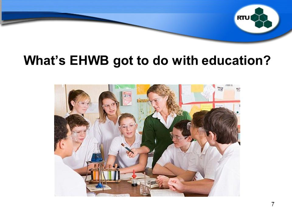 What's EHWB got to do with education