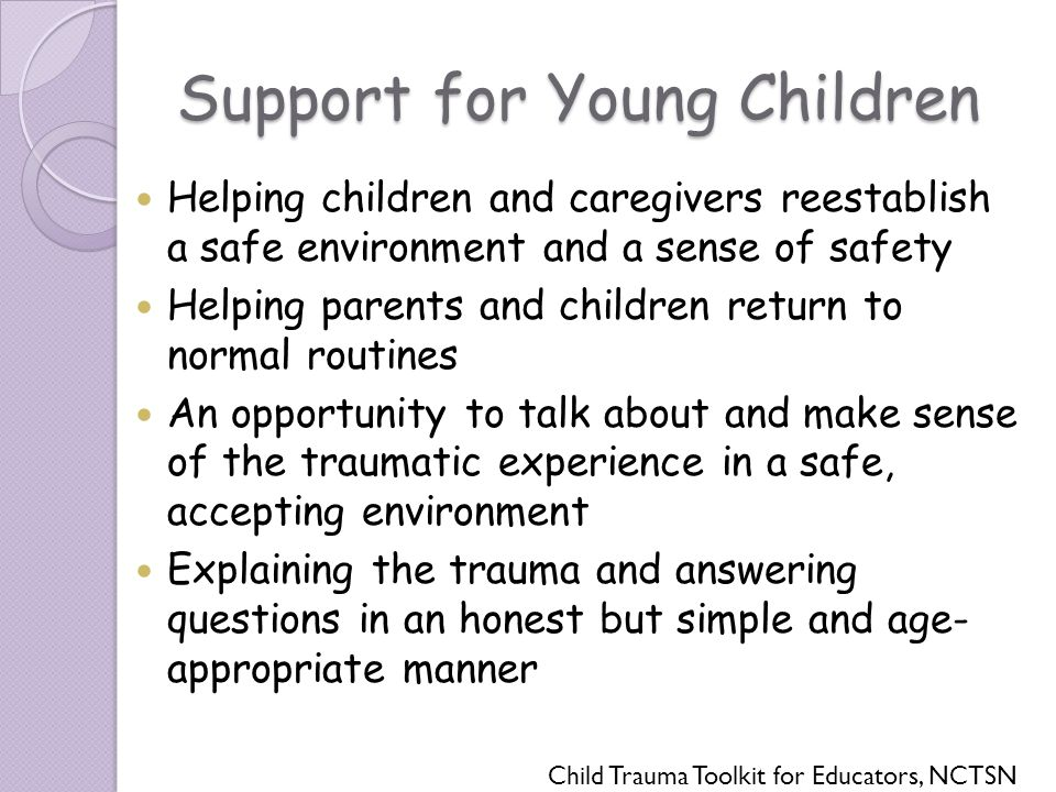 Support for Young Children