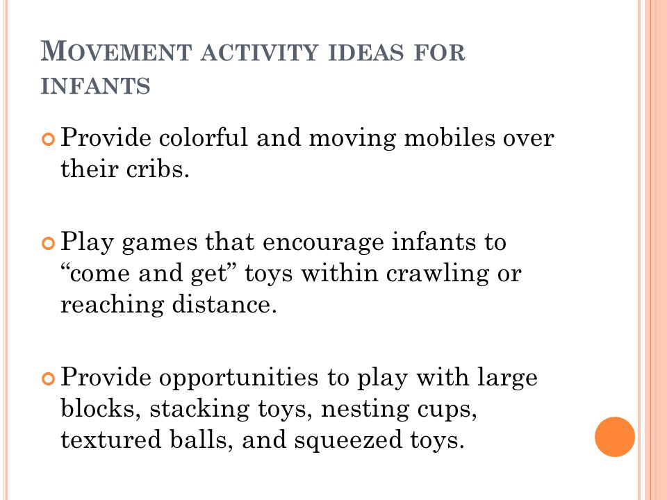 Movement activity ideas for infants
