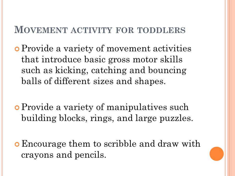 Movement activity for toddlers