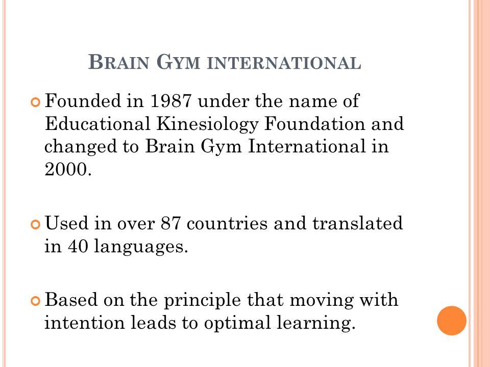 Brain Gym international