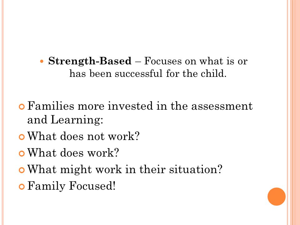 Families more invested in the assessment and Learning: